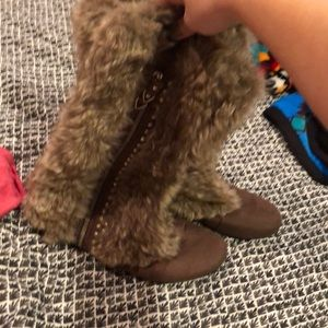 Fur boots from the Buckle